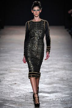 Aquilano.Rimondi Fall 2013 Ready-to-Wear Fashion Show - Daiane Conterato