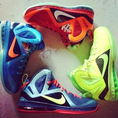 huge discount b97cd 05516 ... Flame  and  Galaxy  Nike LeBron 9 P. Elites Today King James unveiled  four previously unseen player exclusive editions of his signature Nike  LeBron 9 P.