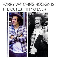 Truth. No one stands and you can tell he is looking @ the scoreboard. But 2 of my favorite things in the world 1d and hockey