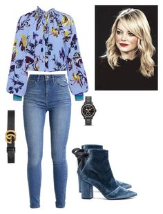 """""""Untitled #61"""" by denisa-gabriela on Polyvore featuring self-portrait, TIBI, Gucci and FOSSIL"""