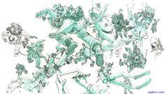 Aleix Gordo Hostau - Ilustración, street art, cómic, pintura, cine...: Kim Jung Gi - Impresionante dibujo coreano