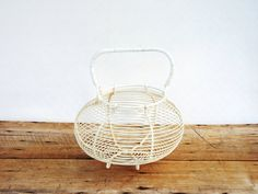 French Wire Egg Basket Panier Salad Fruit by FrenchMarketFinds
