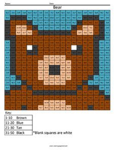 Bear- Advanced Multiplication Answer Key really cool for your kid