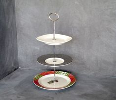 3 Tier Plate Stand Tiered Cake Plate Mini Plate Stand 3 Tier Server Tea Stand Tiered Pastry Plate Jewelry Holder (Item# 00051) & Lacey Jeweled Cloche Glass China Plate Stand | Peach Small Pedestel ...
