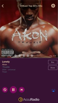 Lonely by Akon on AccuRadio