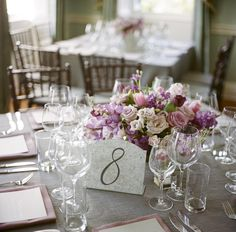 Classic Purple Rose Centerpiece | photography by http://www.abryanphoto.com/