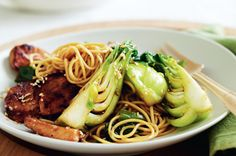 Teriyaki chicken and noodle stir-fry