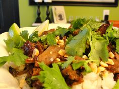This was a surprising dish, simple and dry but amazing flavors - Stir-Fried Thai-Style Beef with Chilies and Shallot