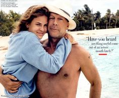 Bruce Willis with daughter Tallulah Belle in Parrot Cay, in Turks and Caicos, by Annie Leibovitz for Vanity Fair, June Annie Leibovitz Photos, Annie Leibovitz Photography, Bruce Willis, Emma Willis, Celebrity Portraits, Celebrity Photos, Demi Moore Ashton Kutcher, Kodak Moment, Cinema Movies