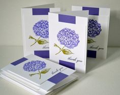 Hydrangea greeting cards by TheRoundedCorner on Etsy