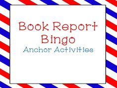 I have my students glue this into their interactive notebooks. As they finish an activity, I collect it and initial their BINGO board. I use these as anchor activities and also to hold them accountable for reading independently.