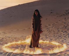 """pooja mor in """"from what i've tasted of desire, i hold with those who favour fire"""" by harley weir for anOther fw15"""