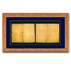 """For history buffs, """"race men"""" and nostalgia lovers this gilded x wood frame displays a full-size, aged parchment reproduction of Lincoln's handwritten edict. A perfect showpiece for the office, library, den or living room. Frame Display, Nostalgia, Stationery, Keepsakes, History, Family Room, Presidents, United States, Study"""