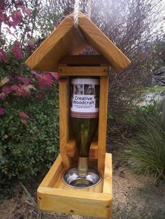 Install a Tui feeder, attract Tui, Waxyeyes, Bell Birds and other nectar feeding birds, the feeder can be used to dispense seed - Creative Woodcraft NZ