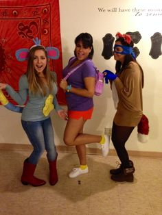 Dora the explorer, boots& swiper! #halloween #costumes