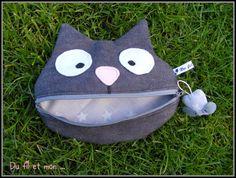 Cute cat zipper bag - inspiration only :)