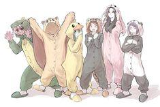 Ashido Mina & Hagakure Tooru & Tsuyu Asui & Uraraka Ochako & Yaoyorozu Momo & Jirou Kyouka l this looks cute Comic Anime, 5 Anime, Anime Guys, My Hero Academia Shouto, My Hero Academia Episodes, Hero Academia Characters, Fictional Characters, Tsuyu Cosplay, Hiro Big Hero 6