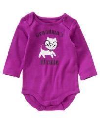 NWT - Gymboree Crazy8 Baby Girl size 0/3 months Grandma onesie/tee - FREE SHIPPING