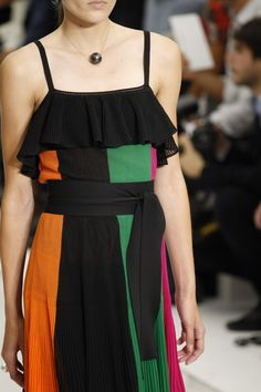 Salvatore Ferragamo Spring 2016 Ready-to-Wear Fashion Show Details Colorblock Dress, Spring Summer 2016, Knit Dress, Salvatore Ferragamo, Looks Great, Ready To Wear, Fashion Show, Cold Shoulder Dress, Vogue