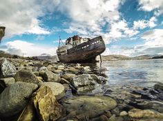 Stellar Multimedia  Corpach Boat Wreck Fort William by @serinamarshall82 on instagram  GoPro Landscape photography in Scotland