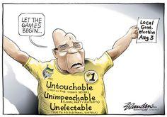 20160407bdUnelectable - Revitalised, Zuma announces the election date. Brandan