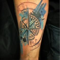Awesome compass tattoo by Kinsey Roehm at Tattooed Heart Studios.