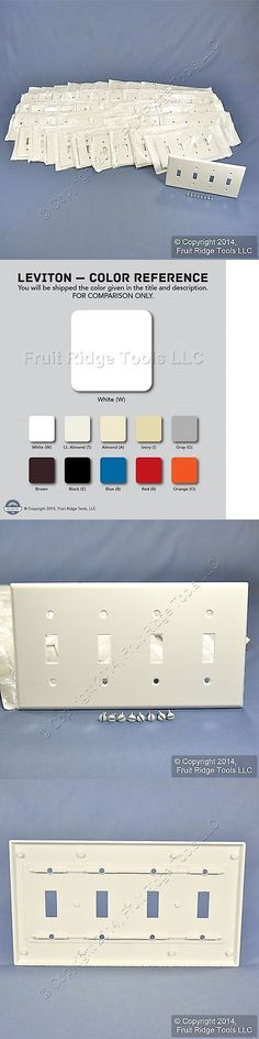 Switch Plates and Outlet Covers 43412: 50 Leviton White Standard 4G Toggle Light Switch Cover Plastic Wallplates 88012 -> BUY IT NOW ONLY: $56.09 on eBay!