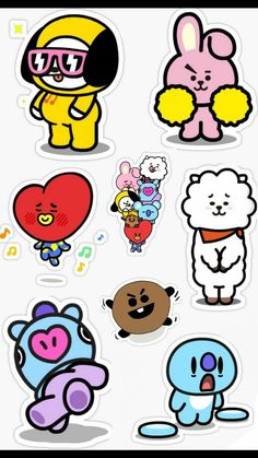 BT21❤ Bts Boys, Bts Bangtan Boy, Bts Jimin, My Melody Wallpaper, Bts Wallpaper, Printable Stickers, Cute Stickers, Army's Birthday, K Pop