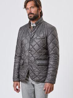 Reversible padded nylon jacket