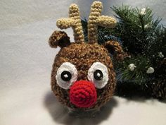 Baby Reindeer Hat for Christmas Winter Rudolph by BestDressedBaby, $22.00