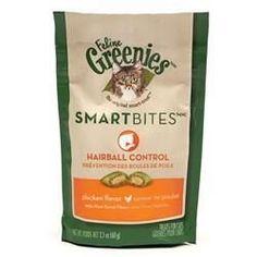 Feline Greenies SmartBites Hairball Control - Chicken, 2.1 oz