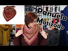 🧣Pañuelo matizado. Sin tener que cambiar de ovillo. Lana, Crochet Necklace, Knitting, Youtube, Rats, Knitting Scarves, Yarns, Knits, Shawl