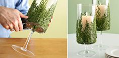 Evergreen Candle Holder http://www.handimania.com/diy/evergreen-candle-holder.html