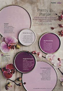 Better Homes & Garden article about purple in decorating (drue-I like the darkest purple but I'm looking for a really manly purple)