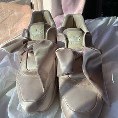 94510bd886d Puma Shoes | Fenty X Puma Cream Bow Sneakers | Color: Cream | Size: