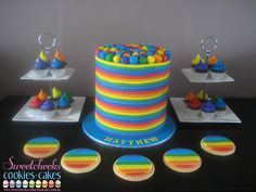 Love this cake. I love that this can be used for a kids party as well as a party for our lovely LGBT community. Love the colors! I want this