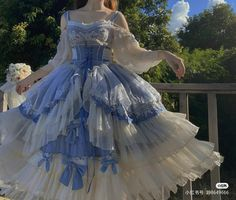 Pretty Outfits, Pretty Dresses, Beautiful Dresses, Ball Dresses, Ball Gowns, Old Fashion Dresses, Kawaii Dress, Fantasy Gowns, Fairytale Dress