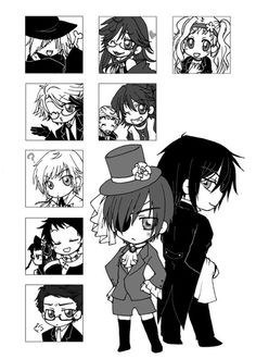 Black Butler - SO cute!! Look at Will! Look at him!! xD