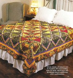Forever Autumn, Scrap Quilting Pattern ~ this is STUNNING!