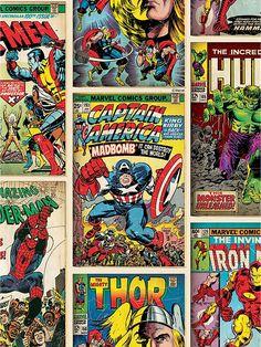 Comics Strip Wallpaper - Multi, http://www.very.co.uk/marvel-comics-strip-wallpaper-multi/1458067916.prd