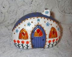 Fairy House Painted River Rock by Sweet2Spicy, via Flickr
