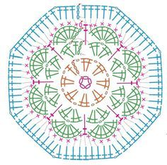 free african flower hexagon crochet pattern - Google zoeken
