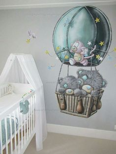 Pin by Pintoterest on babyzimmer junge wandgestaltung in 2019 Baby Boy Room Decor, Baby Room Design, Baby Bedroom, Baby Boy Rooms, Kids Bedroom, Nursery Decor, Kids Room Murals, Bedroom Murals, Girl Nursery