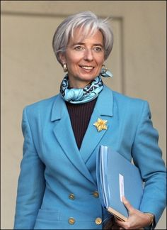 Christine LaGarde - the Minister of Economic Affairs, Industry, and Employment of France and the first woman ever to be the minister of Economic Affairs of a G8 economy