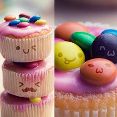 Kawaii faces by =lieveheersbeestje on deviantART Party World, Kawaii Faces, Free Photoshop, Kawaii Shop, Food Design, Cute Art, Cupcake Cakes, Cupcakes, Party Planning