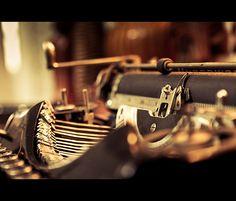 shiny old typewriter.