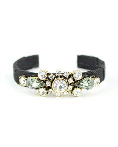 Art Deco Crystal Black Cuff #toobuku // www.thebukuproject.com