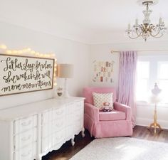 A 1920's bungalow restored to it's original glory.  What a sweet little girl's room!! #bHomApp