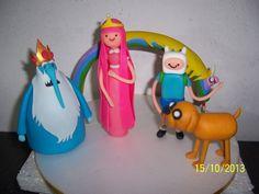 Adorno Torta Adventure Time Hora De Aventura 5 Personajes!! - $ 300,00 en MercadoLibre