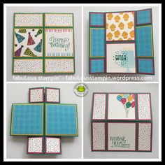 NEVERENDING CARD MANUAL PDF - fabuLous stampin' - stampin up better together melon mambo emerald envy pacific point tempting turquoise crushed curry fiesta dsp birthday card